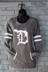 Detroit Michigan D Crew Neck (Dk Heather)