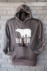 Beer Tailgate Hoody (Charcoal)