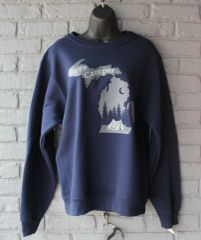 Happy Camper Crew Neck Sweatshirt (Navy)