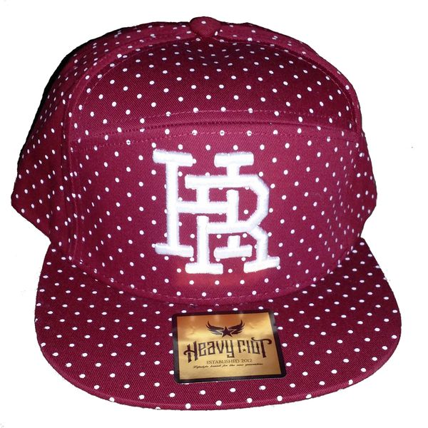 6346a3f86f6aa Burgundy 5 panel hat with leather strap back