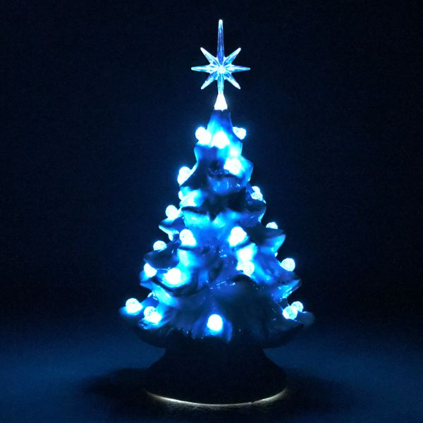 6 white with aqua blue lights extra small christmas tree - Christmas Tree With Blue Lights