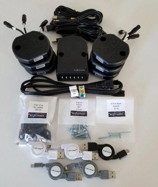 Deluxe Undermount Bar Charging Kit W/ LED Smart Pucks