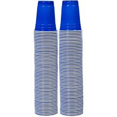 Stack Man Blue Cup Cold Plastic Party Cups 16 Ounce 100 Pack