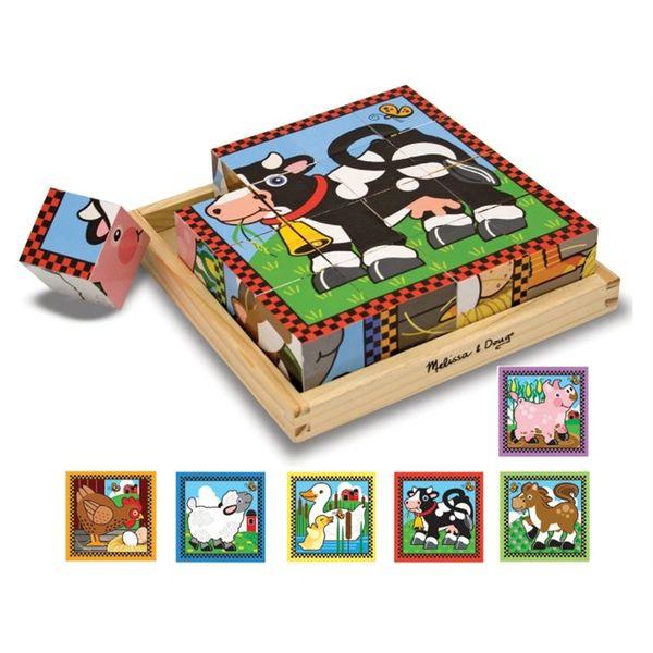 Melissa And Doug Farm Cube Puzzle