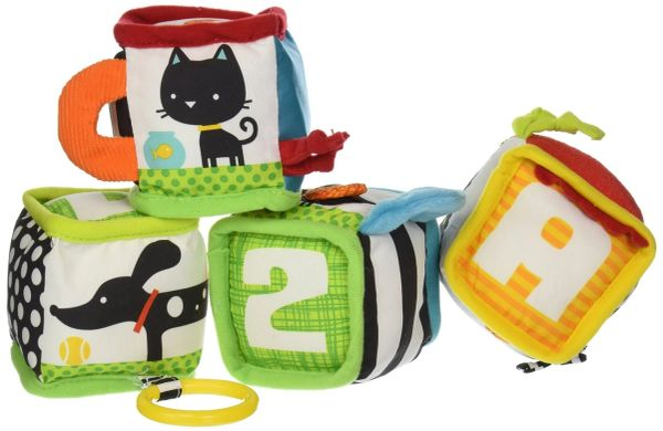 Infantino Discover and Play Soft Blocks Development Toy (Dog and Cat)