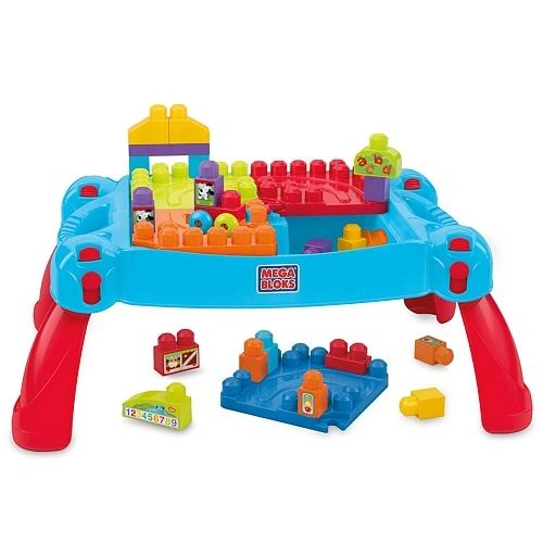 Mega Bloks First Builders Build 'N Learn Table