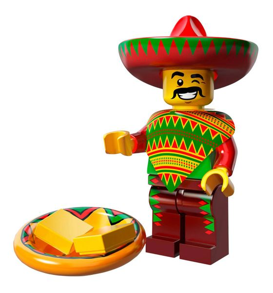 Lego - The Lego Movie Collectible Minifigure (Retired) - Taco Tuesday Man