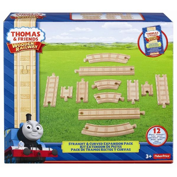 Thomas and Friends Wooden Railway Expansion Tracks (Straight and Curve Pack)