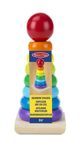 Melissa and Doug Rainbow Stacker Wooden Ring Stacking Toy