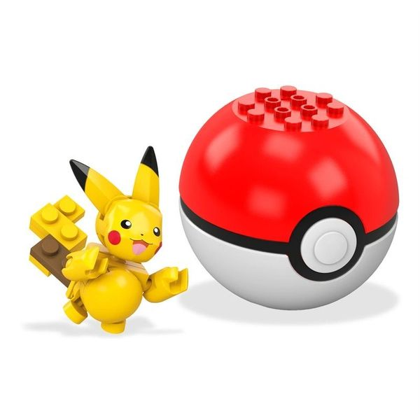 Mega Construx Pokemon Building Set: Pikachu and Pokeball