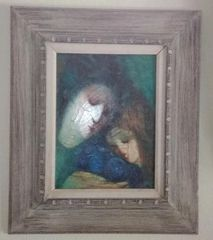 Barbara A. Wood, Mother and Child (Original Oil)