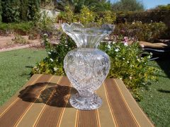 12 inch Waterford Crystal Flower top vase