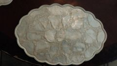 Real Shells inlayed into plastic service place mats. (set of 12)