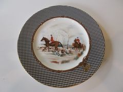 Balmoral Hunt Dinner Plates by Ralph Lauren China (eight plates)