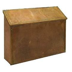 Antique Brass Residential Mailboxes - Wall Mounted