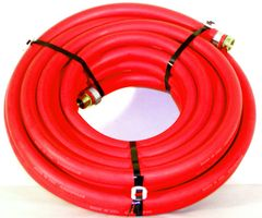 1 Inch Diameter Red Heavy Duty Contractor Water Hose
