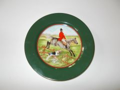 "Fitz & Floyd (FF) ""Tallyho"" English Horse hunters 8 plates and 2 servers"
