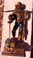 """Buccaneer"" Antique Pirate Swashbuckler Pompeian Bronze"