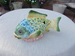 Italian hand painted Fish Tureen