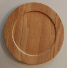"Teak 14"" diameter solid wood Charger plates (Set of 12)"