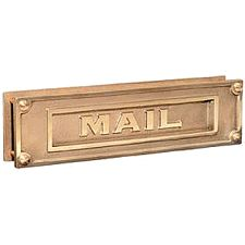 Mail Slots Deluxe Solid Brass