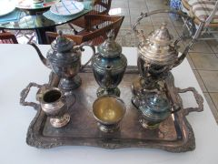 Silverplate Service for Tea, Coffee and more. (8 pieces)