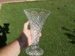 10 inch Waterford Crystal Wedgwood special issue signature Footed Vase