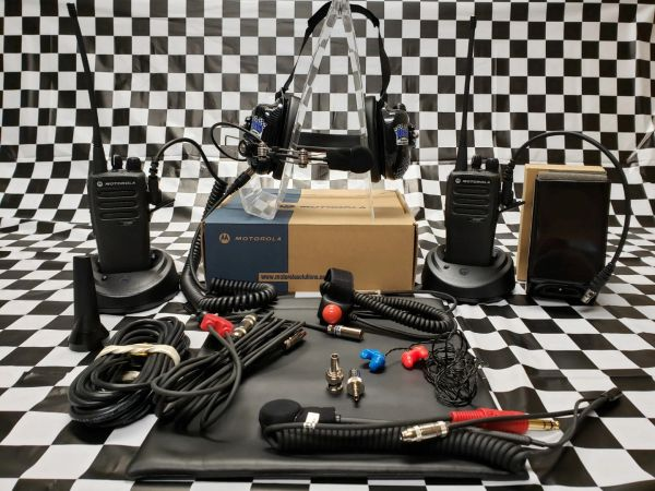 CP200 RACE KIT - Crew and Driver Set Up W/RAIL Mic Headset