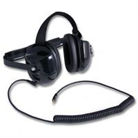 Black scanner headset