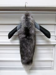 Fur Tail - Fluffiest Genuine Silver Fox Fur Tail, Natural, Offered As Is
