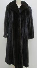 "Mink Fur Coat - Finest Classic Natural Ranch Mink Swing Fur Coat, ""PL"" Collection Piece"