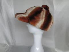 Hat - Sporty Genuine Chinchilla Rex Lapin* Men's Baseball Hat