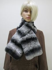 Scarf - Genuine Chinchilla Rex Fur Scarf
