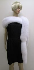 Boa, Fling, Stole, Wrap, Scarf - Winter-Luxe White Fox Fur Boa, Fling, Stole, Wrap or Scarf with Tails