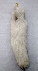 Key Chain - Genuine Fluffy Blue Fox Fur Tail Tassel Charm Bag Tag Key Chain