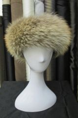 Headband - Trendsetting Genuine Coyote Fur Headband Accessory, One Size Fits All