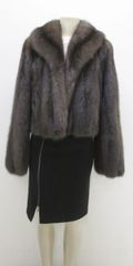 Sable Fur Coat - High Value Natural Barguzin Russian Sable Fur Jacket Style Coat, Size 12+