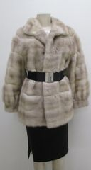"Mink Fur Coat - Vintage Horizontal Genuine Mink Fur Jacket Style Coat,""PL"" Collection Piece"
