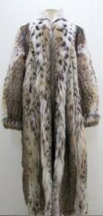 "Lynx Fur Coat - Lynx Cat Full Length Fur Coat ""PL"" Collection Piece"
