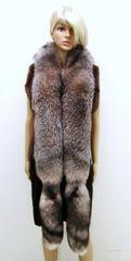 Boa, Fling, Stole, Wrap, Scarf - Genuine Crystal Fox Fur, 2 Crystal Fox Full Tails w/ Tips
