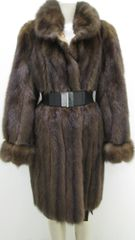 "Sable Fur Coat - Genuine Russian Sable Reversible Fur Coat, ""PL"" Collection Piece"