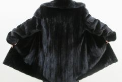 Mink Fur Coat - Finest Natural Female Ranch Mink 7/8 Length Fur Coat
