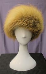 Headband - Truly Gorgeous Genuine Red Fox Fur Headband Accessory, One Size Fits All