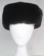 Headband - Genuine Black Chinchilla Rex Fur Headband