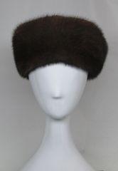 Headband - Genuine Mahogany (Natural Dark Brown) Mink Fur Headband
