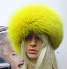 Headband - Gorgeous Genuine Fox Fur Headband in Bright Colors