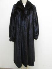 "Mink Fur Coat - Classic Genuine Natural Dark Ranch Mink Fur Coat, ""PL"" Collection Piece"