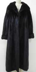 "Mink Fur Coat - Dazzling Natural Dark Ranch Mink Fur Coat, ""PL"" Collection Piece"