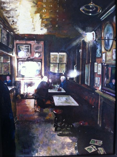 Nellie's Main Bar Giclee Limited Edition Print