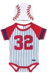 Baby Boys Baseball Bodysuit & Cap Set